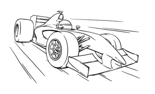 dibujos faciles de autos de carrera