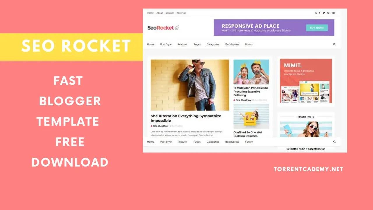 SEO Rocket Blogger Premium Template Download Free