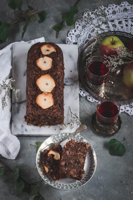 ciasto jabłkowe, ciasto bakaliowe, ciasto śniadaniowe