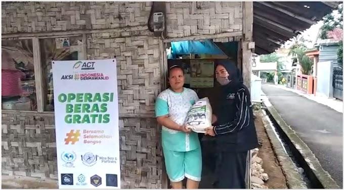 ACT Lampung Gelar Dapur Bersama, Membagikan Sembako Kepada Warga Kurang Mampu
