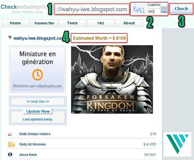 Berapakah Harga Blog Mu? Coba Cek Disini