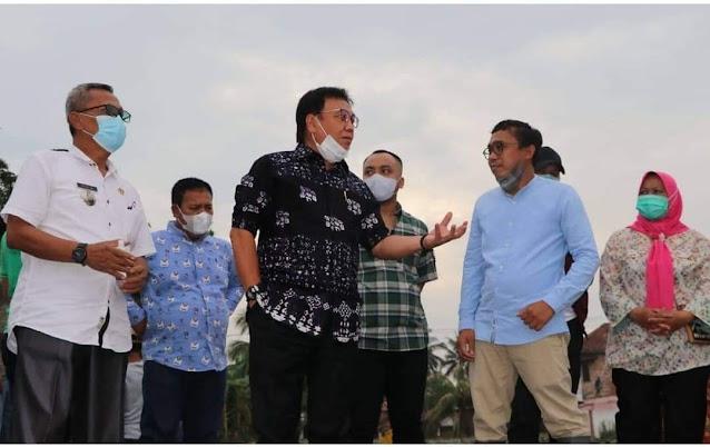 Pj Bupati Minta Kontraktor Perbaiki Proyek Normalisasi Sungai Pangkalan Kute Gelumbang