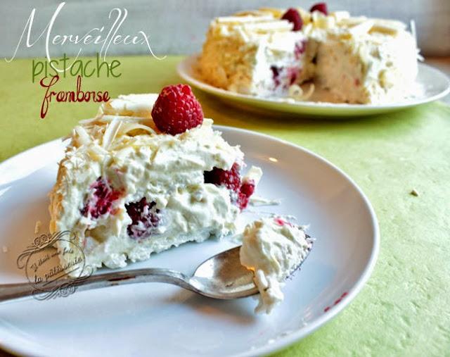 grand merveilleux chocolat blanc framboise pistache
