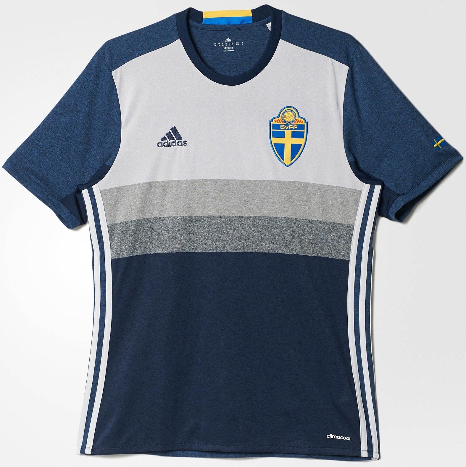 Adidas apresenta nova camisa reserva da Suécia - Show de Camisas 9d70eb019d30a