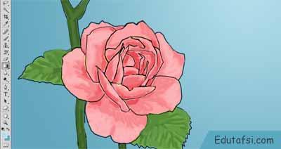 Menggambar bunga mawar di photoshop