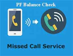 pf balance enquiry toll free number miss call service