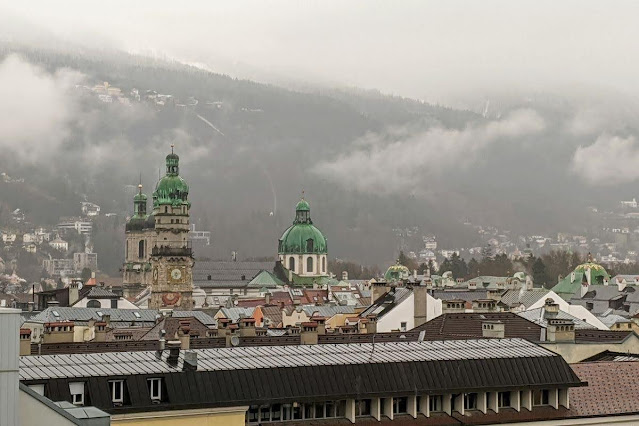 Clouds over Innsbruck in December