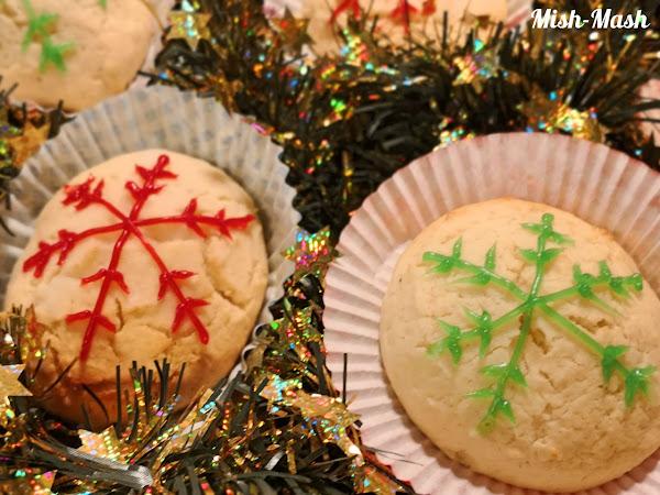 Коледни чийзкейк бисквитки