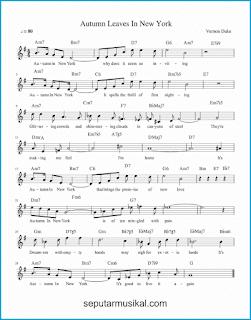 chord autumn in new york lagu jazz standar