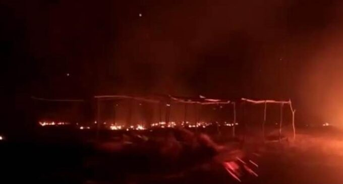 Church Pavilion Erected For Crusade Set Ablaze In Kaduna