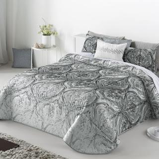Colcha Bouti modelo Doria color Gris de Antilo Textil