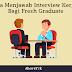Cara Menjawab Interview Kerja Bagi Fresh Graduate