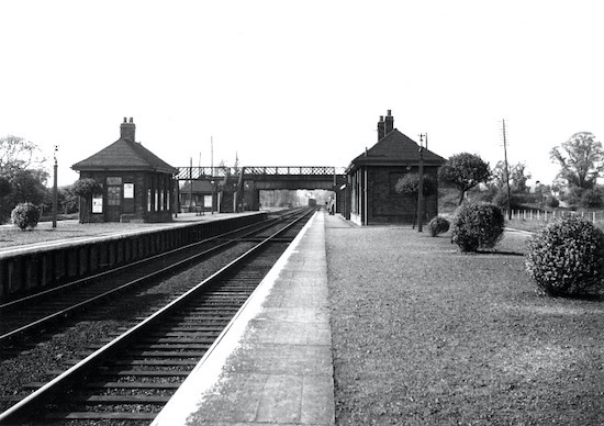 Brookmans Park Station in the 1950s  Image by B.H. Warne, part of the Images of North Mymms collection