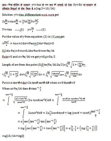 Length of Plane Curve (Rectification),cartesian equation of curve