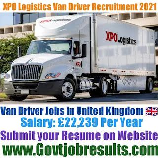 XPO Logistics Van Driver Recruitment 2021-22