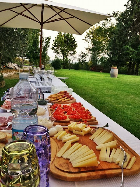 Italian appetizer spread at Marche Winery