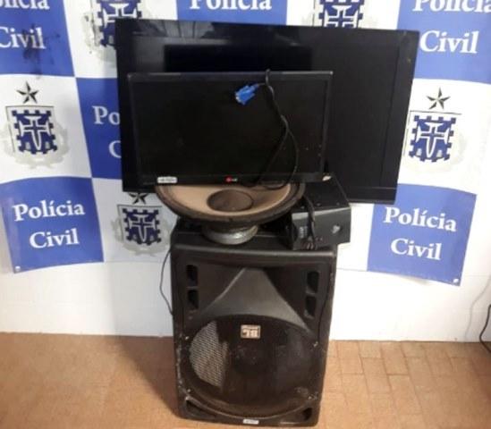 Barra da Estiva: Polícia Civil prende dupla e recupera equipamentos roubados em escola