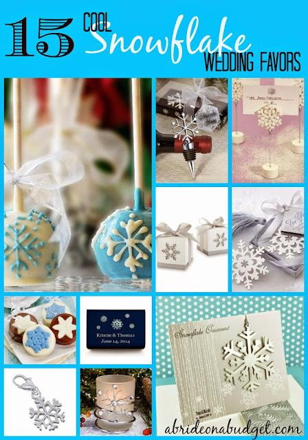 snowflake wedding favor