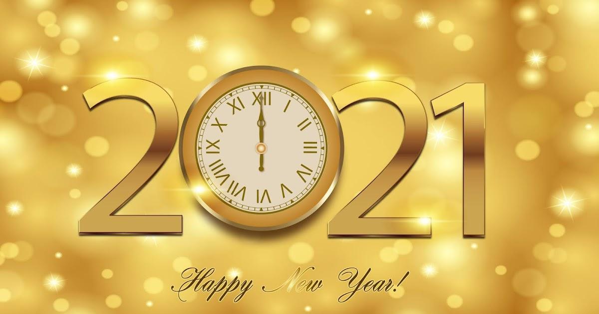 Happy New Year 2021 Golden Background
