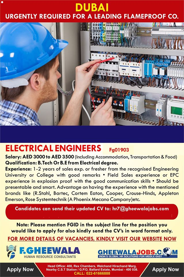 Flameproof Company required for Dubai