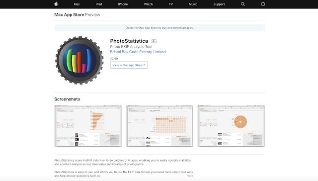 【攝影器材】EXIF 工具軟體 PhotoStatistica,透過數據來分析你的拍攝習慣 - Mac 使用者現在可以在 macOS App Store 購買下載