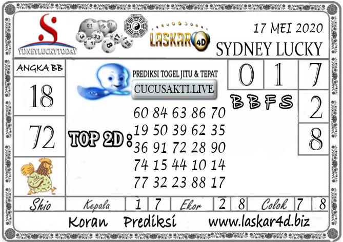 Prediksi Sydney Lucky Today LASKAR4D 17 MEI 2020  Prediksi Sydney Lucky Today LASKAR4D 17 MEI 2020