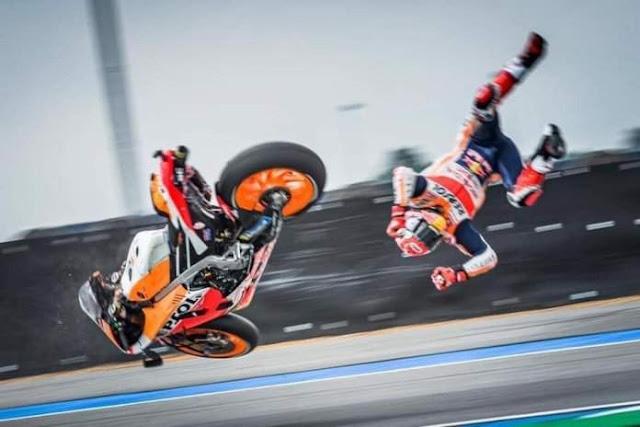 Marquez Crash MotoGp Thailand 2019