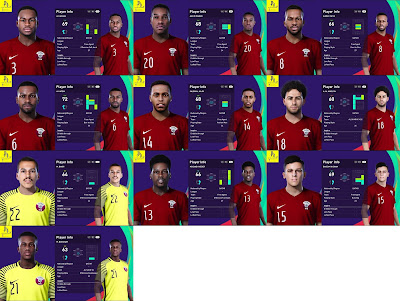 PES 2021 Qatar NT Facepack V1 & V2 by Putra Diatmika