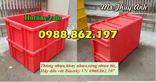 Khay nhựa b2, thùng nhựa B4, khay linh kiện, thùng nhựa có nắp, thùng nhựa đưng linh kiện