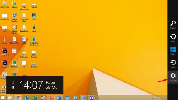 menu setting komputer