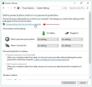 Cara Mengaktifkan dan Cara Mematikan Fast Startup Windows 10