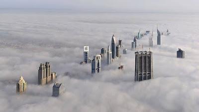 Город  над туманным заливом