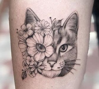 What is the meaning of a cat tattoo pattern