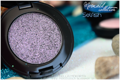SELFISH -  Eyeshedow ombretti Swatches, Comparazione  - MERMAID COLLECTION - NABLA COSMETICS