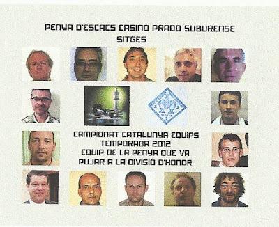 Equipo de División de Honor de la Penya d'Escacs del Casino Prado Suburense
