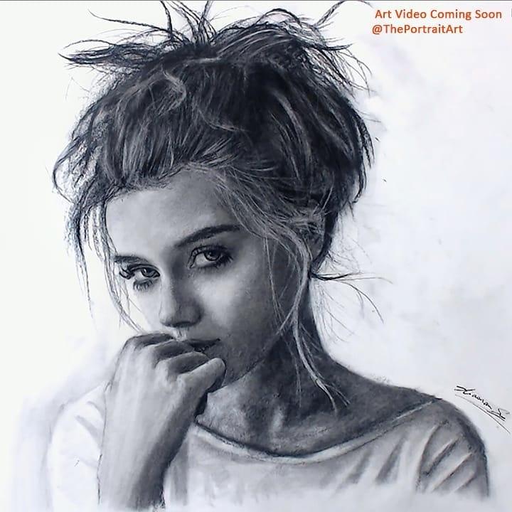 04-Female-Portrait-Xiaonan-Pencil-Charcoal-and-Pastel-Portrait-Drawings-www-designstack-co