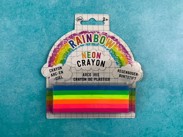 A big fat crayon with 6 colours stuck together