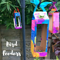 Recycled Carton Bird Feeders