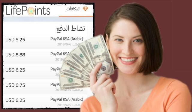 الربح من الاستطلاعات المدفوعة | شرح موقع lifepoints لكسب المال