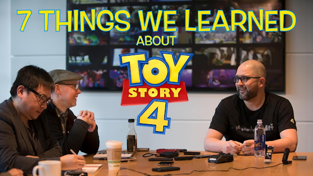 Josh Cooley and T.J. Wolsos discussing Toy Story 4