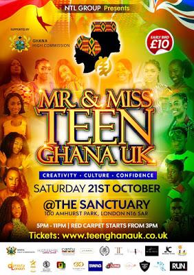 Mr & Miss Teen Ghana UK Set For October 21st