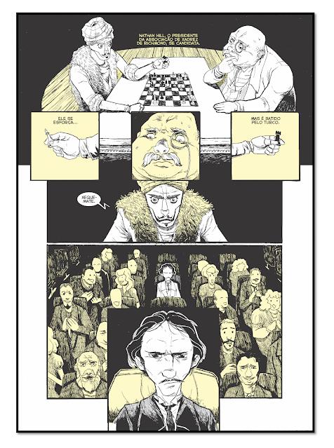 """Página de """"O Rei Amarelo em Quadrinhos"""""""