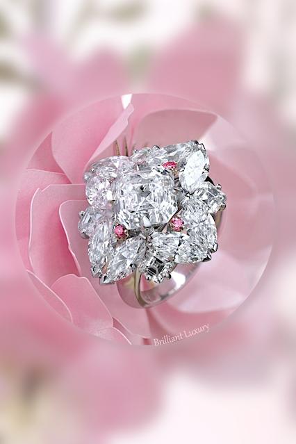 ♦David Morris 3.76ct pink diamond ring #jewelry #brilliantluxury