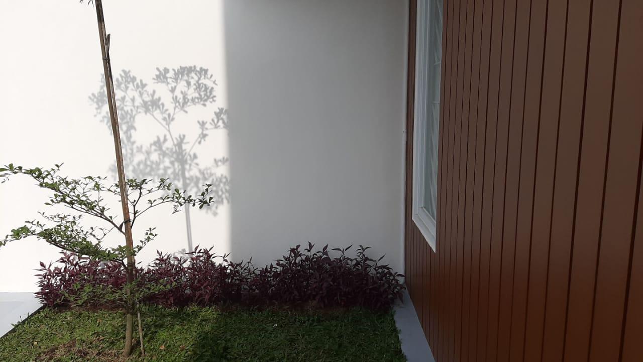 Contoh ruang taman minimalis di halaman rumah