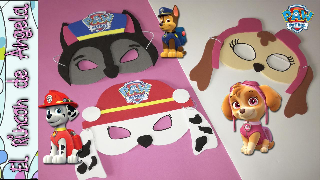 Máscaras para Carnaval de la Patrulla canina, caretas de Carnaval ...