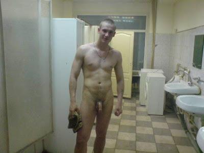 Cadet naked shower teabag