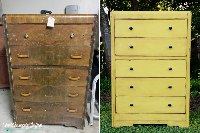 Waterfall Dresser Before and After