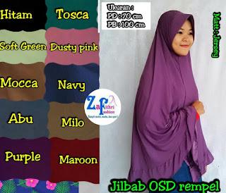 jilbab syar'i jumbo OSD bahan jersey
