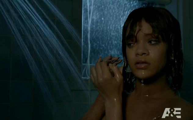 Rihanna bates motel Shower scene