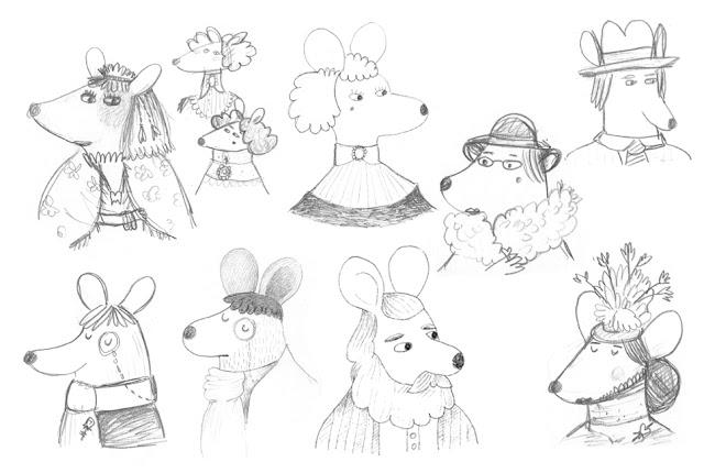 Bocetos Ratones Pérez - Maria Albarrán Ilustraciones